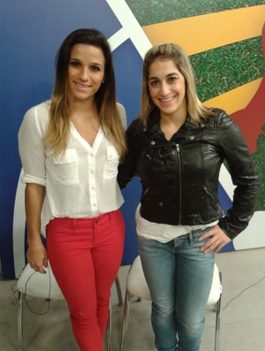 Jade Barbosa Daniele Hypolito ginastas curitiba (Foto: Silvia Leticia Cordeiro)