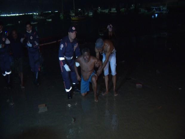 resgate de pescadores de Rn em Fortaleza (Foto: TV Diário/Reprodução)