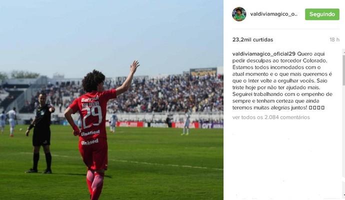 Valdívia meia Inter (Foto: Reprodução, Instagram)
