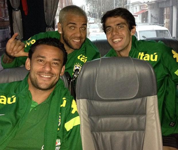 Daniel alves kaká fred brasil (Foto: Reprodução / Instagram)
