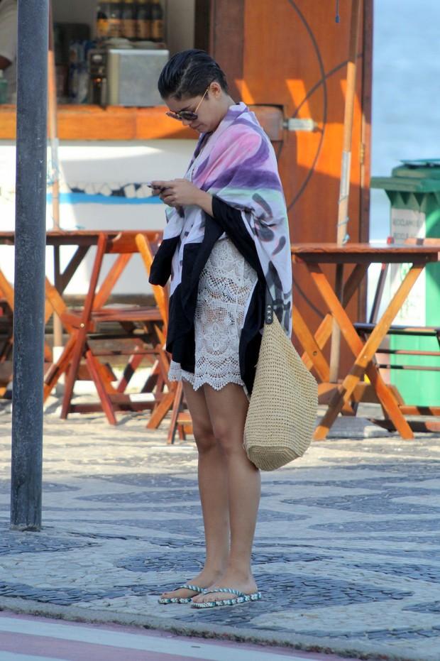 Sophie Charlotte na praia do Leblon, RJ (Foto:  J.Humberto / AgNews)