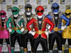 Os Power Rangers compareceram à feira Comic-Con Internacional, em San Diego (EUA). (Foto: Chelsea Lauren/France Presse)