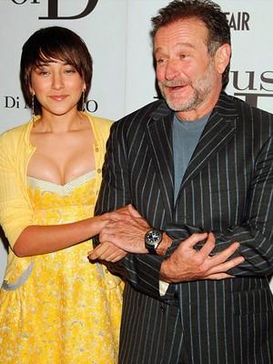 Robin Williams ao lado da filha Zelda em abril de 2005 (Foto: Bill Davila/Reuters)