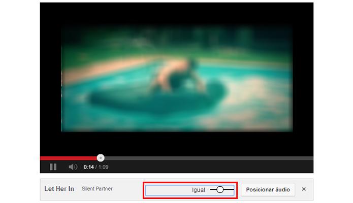 Mescle o áudio original com a faixa de som da biblioteca do YouTube (Foto: Reprodução/Paulo Alves)
