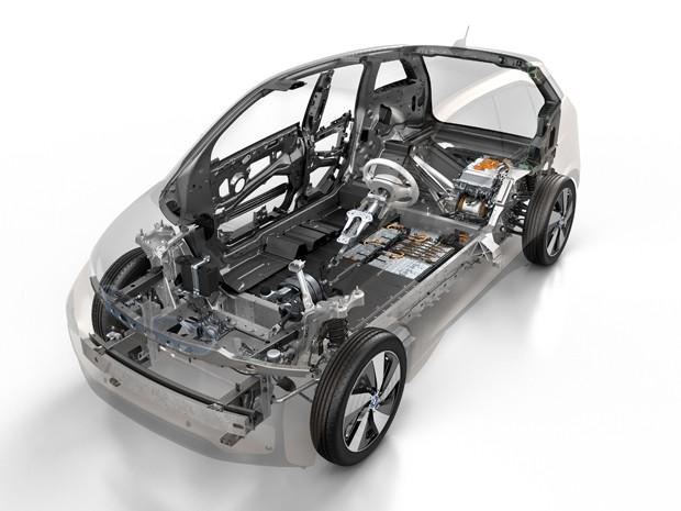 Estrutura do BMW i3 (Foto: Divulgação)