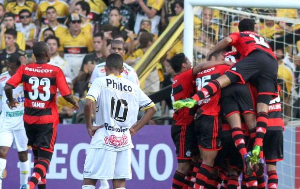 Comemoração Flamengo contra o Criciúma  (Foto: Fernando Ribeiro / Agência Estado)