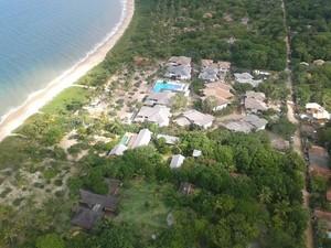Vista aérea do paradisíaco CT da Alemanha em Santa Cruz Cabrália, na Bahia (Foto: Renato Ribeiro / TV Globo)