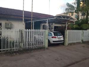 Suspeito foi preso e encaminhado à DCCM, em Macapá (Foto: John Pacheco/G1)