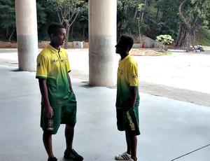 Vinícius e Pedro, jogadores do Cori-Sabbá