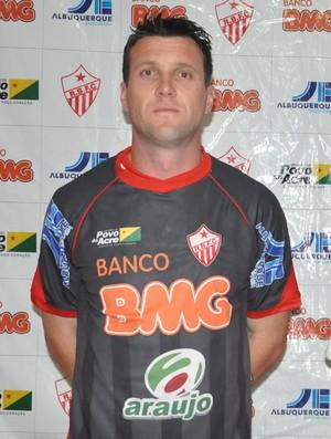 Goleiro Vanderlei e lateral-esquerdo Xaro, no Rio Branco (Foto: Manoel Façanha/Arquivo Pessoal)