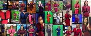 Vestido de R$ 85 da Amazon vira hit entre garotas do tempo nos EUA (Reprodução/Facebook/Meteorologist Jennifer Myers)