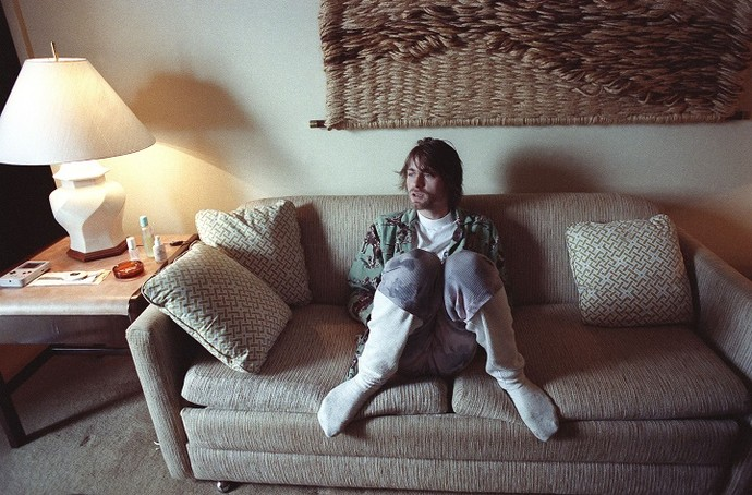 Vocalista no Nirvana, Kurt Cobain, em um hotel no Rio (Foto: Marcia Foletto)