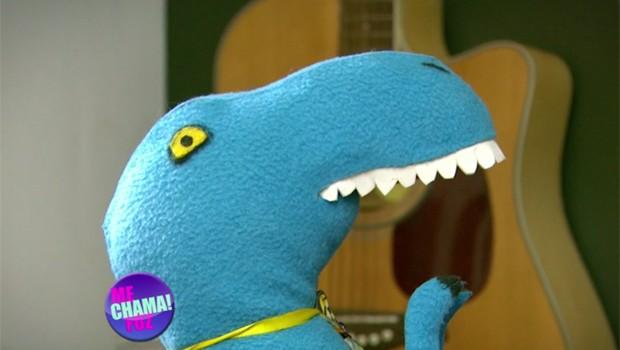 Conheça o dinofauro azul que está bombando nas redes sociais (Foto: Reprodução/RPC)