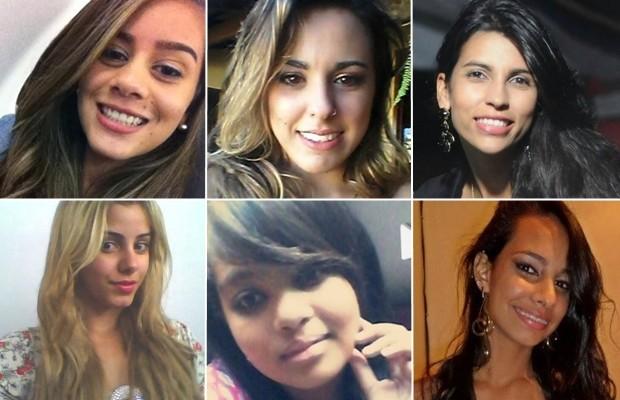 Bárbara, Wanessa, Juliana, Janaina, Taynara e Isadora foram algumas das vítimas do suposto serial killer em Goiânia, Goiás (Foto: Arquivo Pessoal)