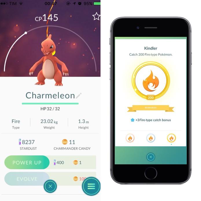 Exemplo de medalha de Fogo em Pokémon Go (Foto: Reprodução/Felipe Vinha)