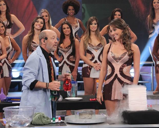 David Willey no palco do Domingão (Foto: Domingão do Faustão / TV Globo)
