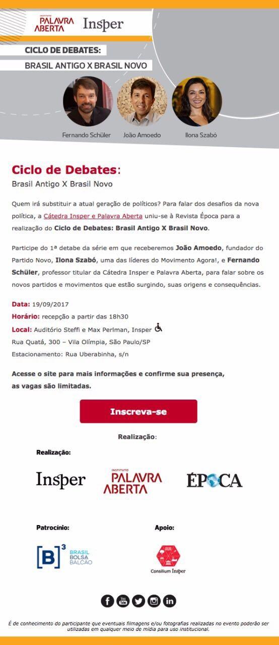Debate Brasil Velho x Brasil Novo (Foto: Editoria de Arte)