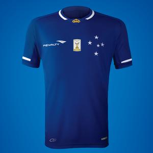 Camisa do Cruzeiro para a temporada 2015 (Foto  Reprodução   Facebook do  Cruzeiro) 6f90bf60f07e7