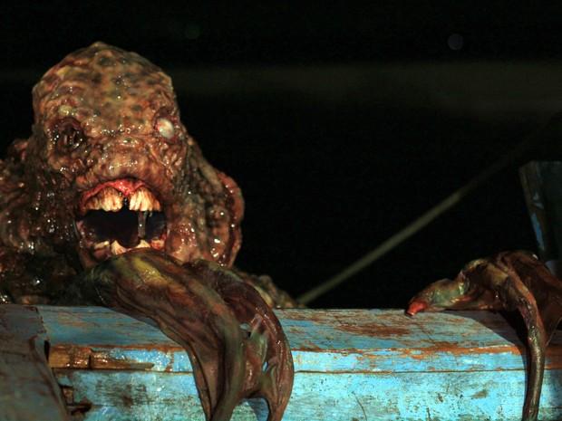 Baiacu-sereia é um dos personagens do filme. (Foto: Divulgação Mar Negro)
