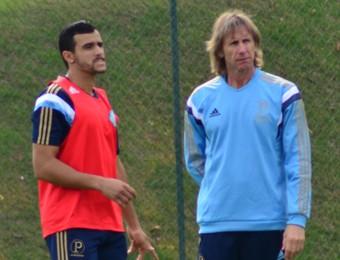 Ricardo Gareca e Henrique treino Palmeiras Atibai (Foto: Danilo Sardinha/GloboEsporte.com)