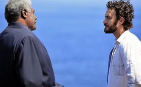 Gabriel Braga Nunes e Tony Tornado gravam cena no Leblon