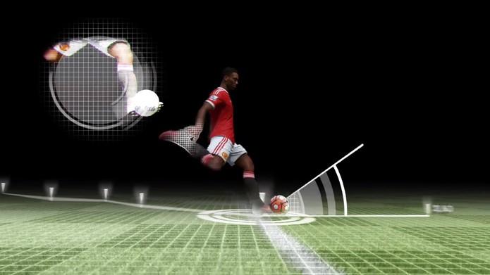 Em Fifa 17, será possível chutar rasteiro de longas distâncias (Foto: Reprodução/YouTube)