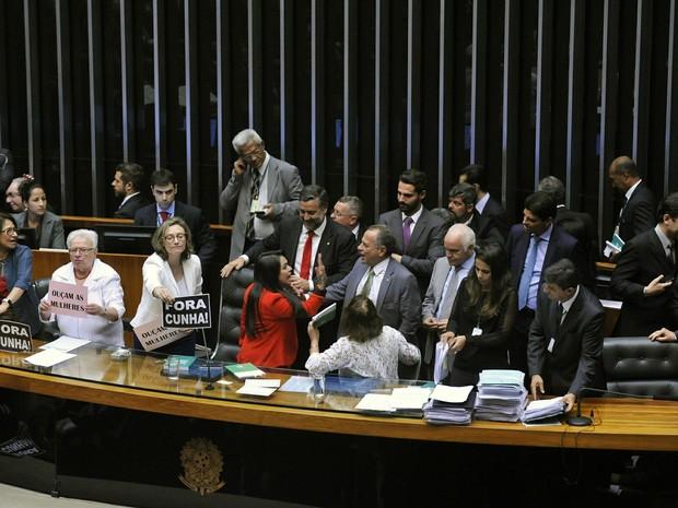 Tumulto em discussão sobre projeto faz Câmara suspender sessão (Foto: Luis Macedo / Câmara dos Deputados)
