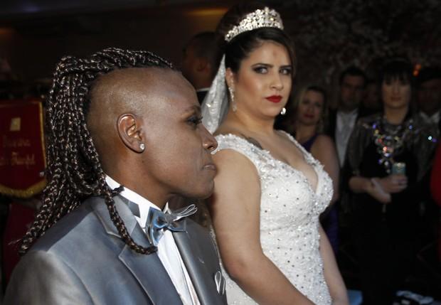 Casamento de Neném e Thais (Foto: Celso Tavares / Ego)