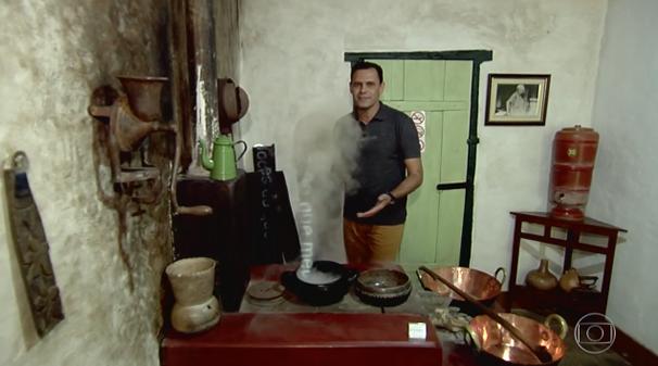 Honório Jacometo visitou o museu revitalizado. (Foto: TV Anhanguera)