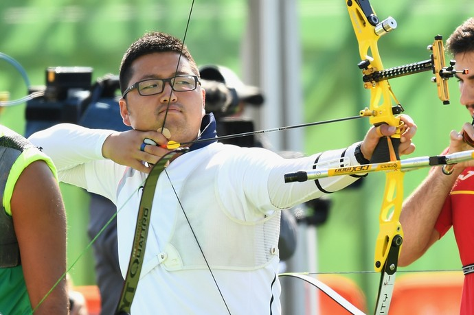 Kim Woojin tiro com arco recordista (Foto: Quinn Rooney/ Getty Images)