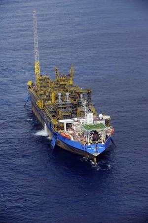 Unidade de produção de hidrocarbonetos Cidade de Paraty, que opera na Bacia de Santos (Foto: Agência Petrobras)