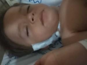 Menino está internado no Hospital Pequeno Príncipe, em Curitiba (Foto: Jake Moraes/Arquivo pessoal)