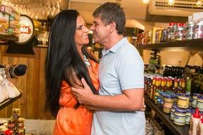 Solange Gomes e o namorado Bernardo Muller (Foto: Divulgação)
