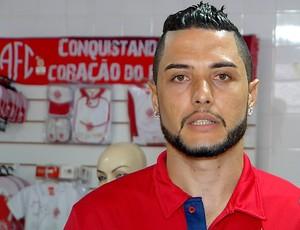 Camilo - goleiro do América-RN (Foto: Reprodução/Inter TV Cabugi)