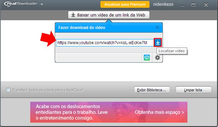 Cole a URL e comece a baixar (Foto: Reprodução/Paulo Alves)