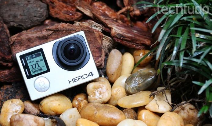 GoPro Hero4 Black grava vídeos em 4K e tem preço caro (Foto: Luciana Maline/TechTudo) (Foto: GoPro Hero4 Black grava vídeos em 4K e tem preço caro (Foto: Luciana Maline/TechTudo))