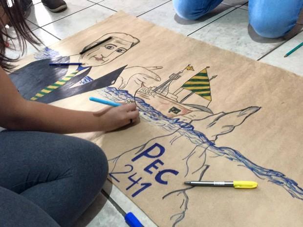 ocupação escolas uberlândia (Foto: Matheus Rezende/Arquivo pessoal)