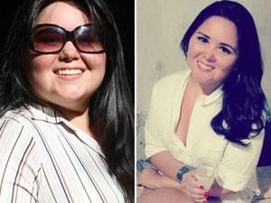 Kelita de Oliveira Silva emagreceu mais de 20 quilos com atividade física e melhorando a alimentação (Foto: Foto: Arquivo pessoal/Kelita de Oliveira Silva)