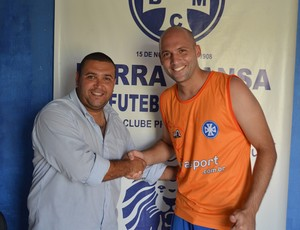 Goleiro Márcio treinava no Barra Mansa desde 1º de fevereiro (Foto: Renato Silva/BMFC)
