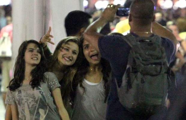Sasha e amigas no Rock in Rio (Foto: Claudio Andrade / FotoRioNews)
