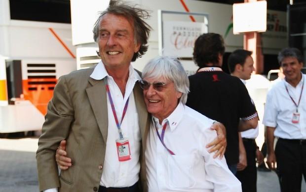 Em junho, Luca di Montezemolo e Bernie Ecclestone trocavam afagos nos bastidores da F-1 (Foto: Getty Images)