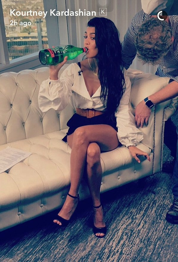 A celebridade Kourtney Kardashian (Foto: Snapchat)