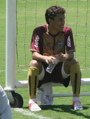 Lateral Marcos Rocha e goleiro Giovanni; do Atlético-MG (Foto: Valeska Silva / Globoesporte.com)