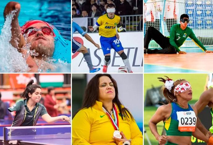 montagem prêmio Prêmio Paralímpicos (Foto: Editoria de Arte)