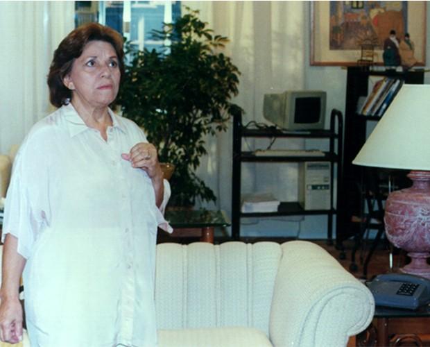 Selma Lopes atuando na novela Cama de Gato, em 2009 (Foto: Arley Alves/TV Globo)