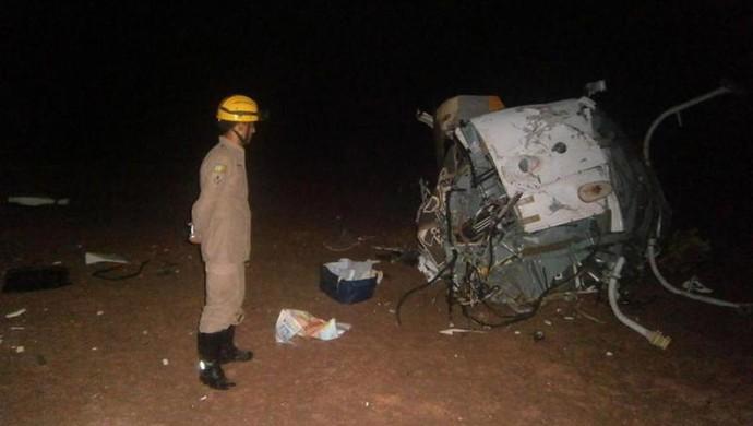 fernandão acidente Helicóptero (Foto: Corpo de Bombeiros de Goiás / Divulgação)