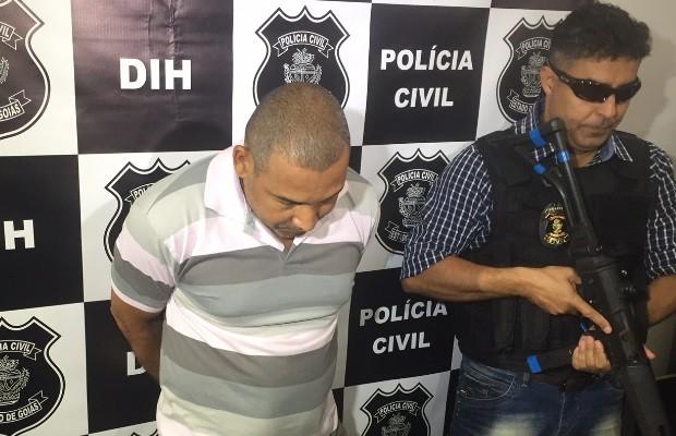Empresário foi preso mais de um ano depois do crime, em Goiás (Foto: Murillo Velasco/G1)