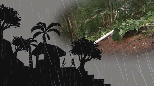 Campanha de Orientação ao Público durante o período de chuvas (Foto: Arte Computação Gráfica)