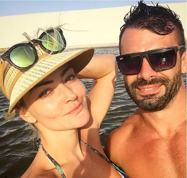 Laura Keller ao lado do marido (Foto: Divulgação)