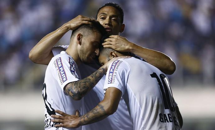 Santos x Atlético-MG Gabriel Lucas Lima Ricardo Oliveira (Foto: Ricardo Saibun/Agif/Estadão Conteúdo)
